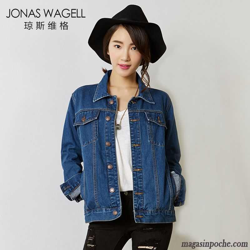 Veste en jean femme manche courte