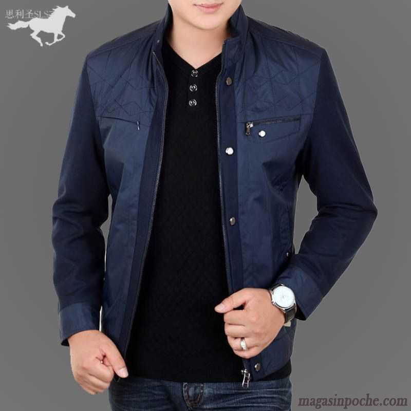 veste en jean pour homme mince col mandarin homme l 39 automne de travail veste pardessus beige. Black Bedroom Furniture Sets. Home Design Ideas