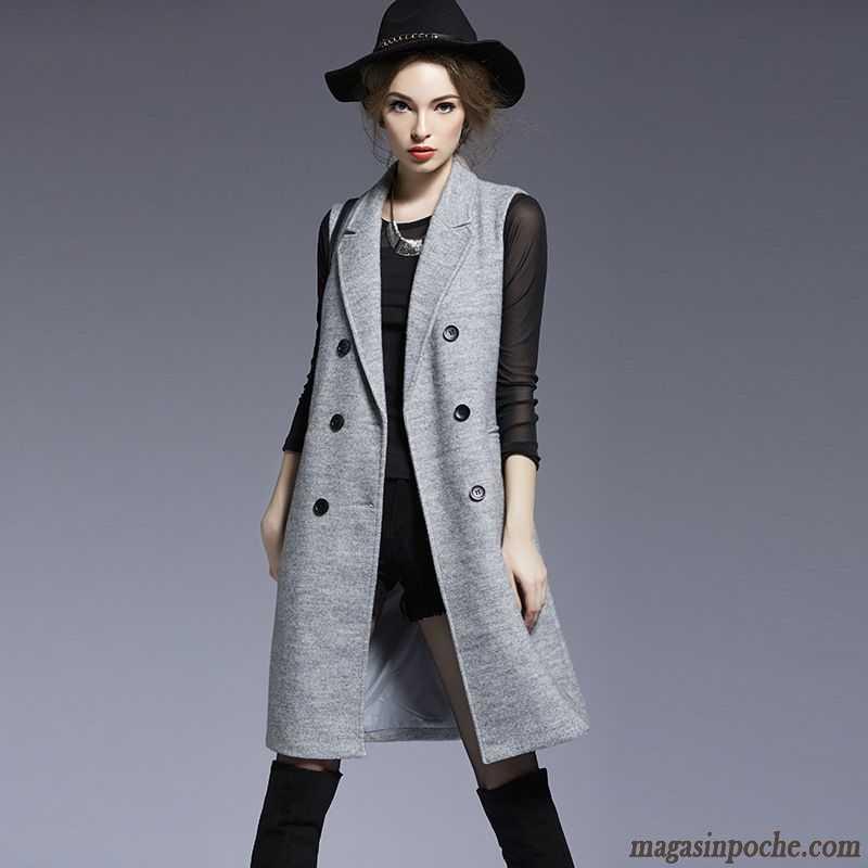 veste femme long hiver manteau pure femme revers roul slim manches longues pardessus l 39 automne. Black Bedroom Furniture Sets. Home Design Ideas