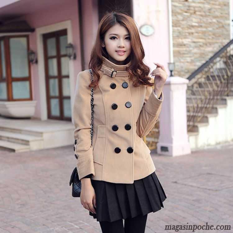 veste femme longue cintr e pardessus slim col mandarin de laine l 39 automne et l 39 hiver femme trier. Black Bedroom Furniture Sets. Home Design Ideas